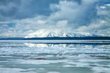 Icy Summer Landscape at Yellowstone Lake, Wyoming Photographic Print by Vincent James