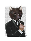 James Bond Cat Prints by  Fab Funky