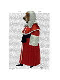 Basset Hound Judge Full Prints by  Fab Funky