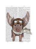 Aviator Piggy Kunstdrucke von  Fab Funky