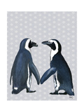 Penguins in Love Premium Giclee Print by  Fab Funky