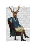 Distinguished Deer Full Print by  Fab Funky