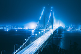 Blue City Bridge, Bay Bridge, San Francisco, California Photographic Print by Vincent James