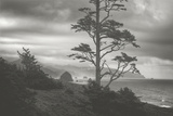 Moody Cannon Beach, Black and White, Oregon Coast Photographic Print by Vincent James