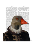 Elizabethan Goose in a Ruff Premium Giclee Print by  Fab Funky