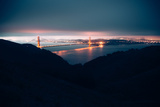 Moody Blue Morning and Golden Gate, San Francisco Photographic Print by Vincent James