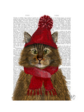 Maine Coon Cat Print by  Fab Funky