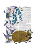 The Golden Hedgehog Premium Giclee Print by  Fab Funky