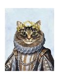 Cat Queen Print by  Fab Funky