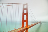 Into the Fog at Golden Gate Bridge, San Francisco Photographic Print by Vincent James