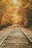 Autumn Railroad, New Engalnd Fall Foilage Photographic Print by Vincent James