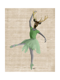 Ballet Deer in Green Posters by  Fab Funky