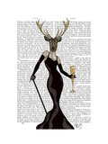 Glamour Deer in Black Posters by  Fab Funky