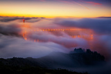Ethereal Golden Gate Bridge in Fog, San Francisco Photographic Print by Vincent James