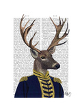 Captain Deer Poster by  Fab Funky