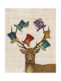 Hat Collector Deer Prints by  Fab Funky