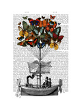 Butterfly Airship Premium Giclee Print by  Fab Funky