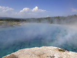 Steam Comes Off of a Pool at Midway Geyser Basin Photographic Print by Stacy Gold