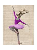 Ballet Deer in Pink Plakater af Fab Funky
