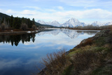 Landscape of the Snake River and the Snow-Covered Teton Range Photographic Print by Michael Forsberg