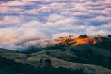 Morning Fog at Mount Diablo, California Photographic Print by Vincent James