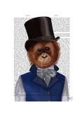 Orangutan in Top Hat Prints by  Fab Funky