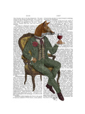 Wine Taster Fox Full Posters af  Fab Funky