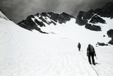 Climbers Ascending a Glacier on a Mountain Near Rogers Pass Photographic Print by Michael Hanson