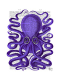 Purple Octopus Premium Giclee Print by  Fab Funky