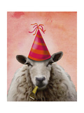 Party Sheep Premium Giclee Print by  Fab Funky
