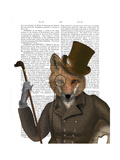 The Bounder Fox Print Art by  Fab Funky