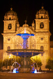 The Cathedral of Santo Domingo and the Plaza De Armas in Cuzco Photographic Print by Jim Richardson