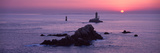 La Vieille Lighthouse at Sunset, Finistere, Brittany, France Fotografisk tryk af Panoramic Images