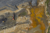 An Aerial View of a Construction and Mining Site in Indiana Photographic Print by Pete McBride
