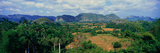 A Panoramic View of the Valle De Vinales, in Central Cuba Fotografie-Druck von Panoramic Images