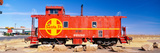 Red Santa Fe Caboose, Arizona Photographic Print by Panoramic Images