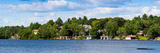 Cottage and a Boathouse on Lake Muskoka, Ontario, Canada Photographic Print by Panoramic Images