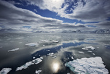 Calm Seas Among the Ice Floes in Svalbard, Norway Photographic Print by Jim Richardson