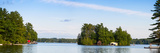 Cottage and Boathouse on Lake Muskoka, Ontario, Canada Photographic Print by Panoramic Images