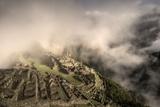 Clouds Drift over the Pre-Columbian Inca Ruins of Machu Picchu Photographic Print by Jim Richardson