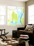 Blue and Green Abstract Wall Mural by Sarah Ogren