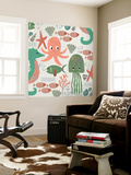 Under the Sea Pattern Wall Mural by Katie Doucette