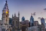 Philadelphia 's City Hall with the Skyline of the Central Business District, 2014 Photographic Print by Richard Nowitz