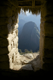 A View Through a Window in the Pre-Columbian Inca Ruins of Machu Picchu Photographic Print by Jim Richardson