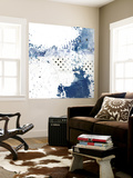 Navy Abstract III Wall Mural by Sarah Ogren