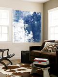 Navy Abstract I Wall Mural by Sarah Ogren