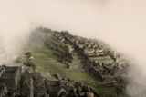 Clouds Drift over the Pre-Columbian Inca Ruins of Machu Picchu Photographic Print by Jim Richardson