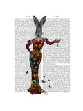 Rabbit Butterfly Dress Premium Giclee Print by  Fab Funky