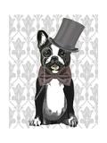 Monsieur Bulldog Premium Giclee Print by  Fab Funky