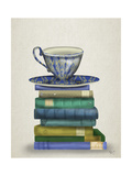 Teacup and Books Print by  Fab Funky